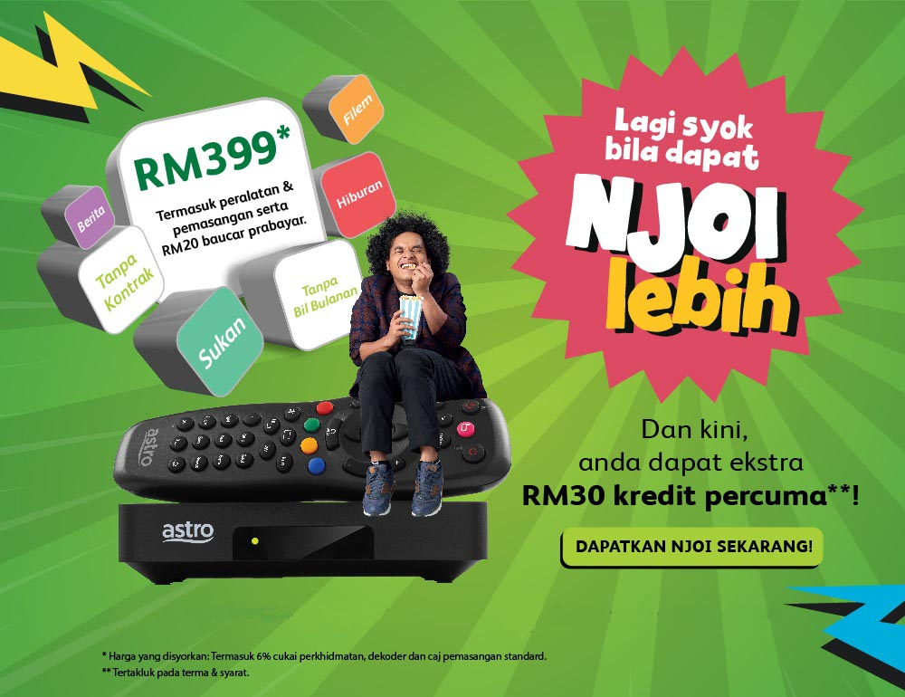 Njoi Astro Package Malaysia